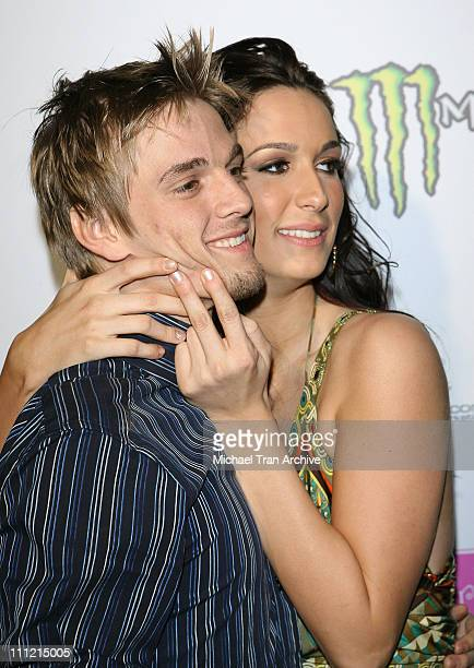 Aaron Carter and Angel Carter during Aaron Angel Carter's Birthday Party December 15 2006 at SHAG Nightclub in Hollywood California United States