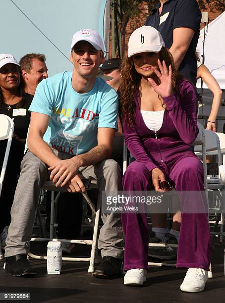 Aaron Carter and La Toya Jackson attend the 25th Annual AIDS Walk Los Angeles on October 18 2009 in Los Angeles California