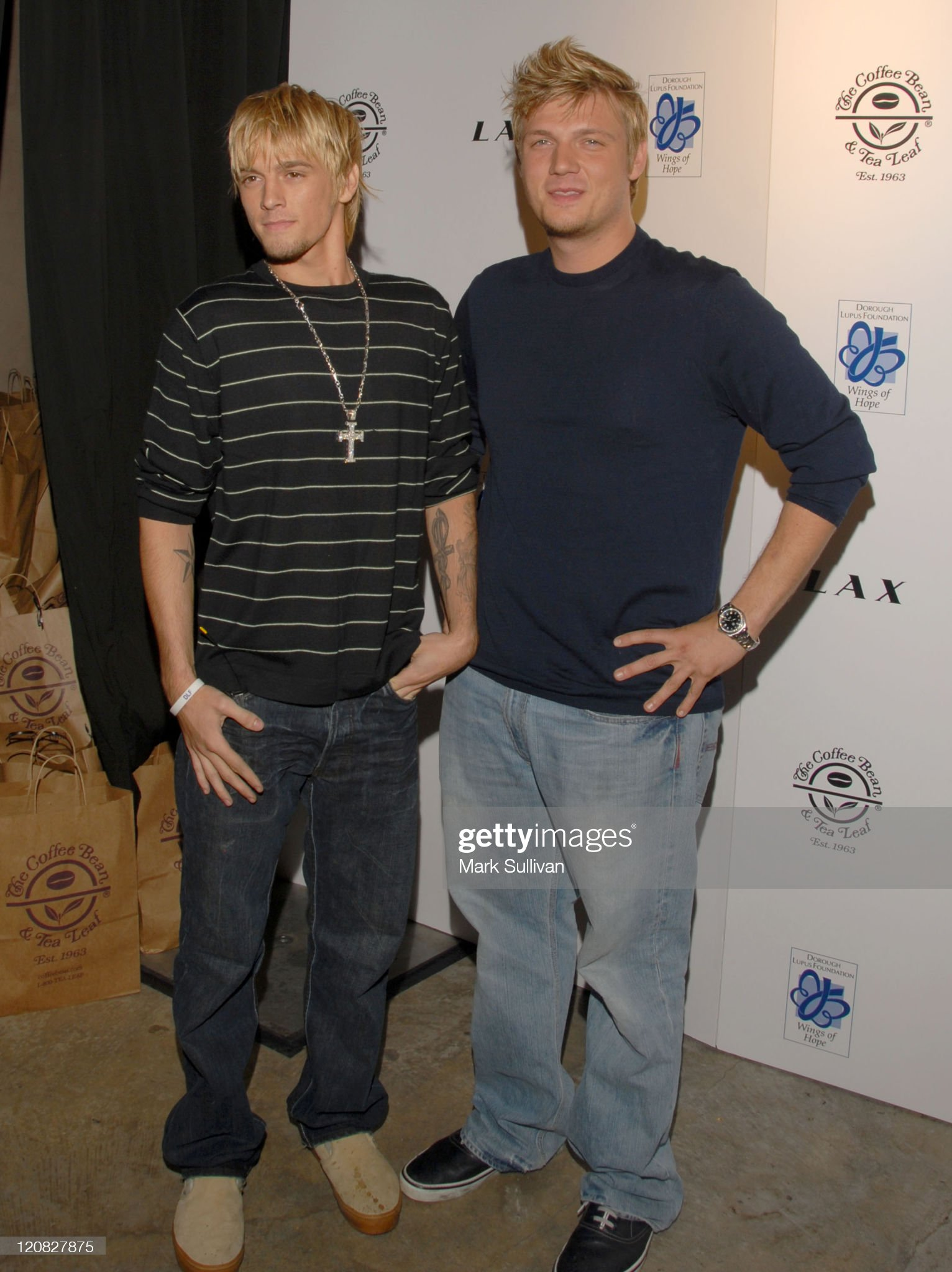 ¿Cuánto mide Aaron Carter? - Estatura: 1,73 y peso - Real height and weight Aaron-carter-and-nick-carter-during-howie-doroughs-birthday-party-at-picture-id120827875?s=2048x2048