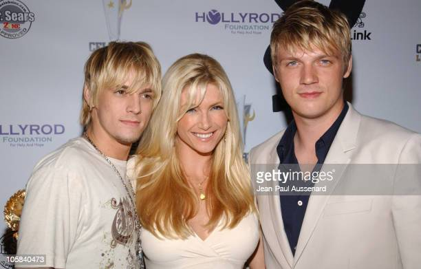 Aaron Carter Brande Roderick and Nick Carter during Celebrity Locker Room Presents An All Star Night at The Mansion at The Playboy Mansion in Los...