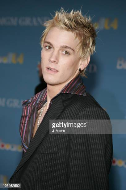 Aaron Carter during 2004 Billboard Music Awards Arrivals at MGM Grand in Las Vegas Nevada United States