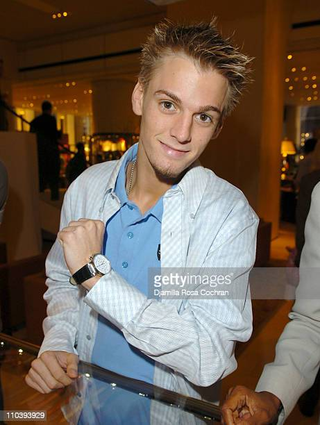 Aaron Carter during Jaci Wilson Reid and Morris Reid Host a Shopping Experience at Asprey to Benefit VH1 Save The Music Fund at Asprey in New York...
