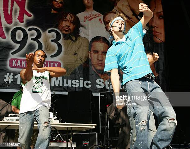 Aaron Carter during KMXV's Red White and Boom 10 Kansas City at Verizon Wireless Amphitheater in Bonner Springs Kansas United States