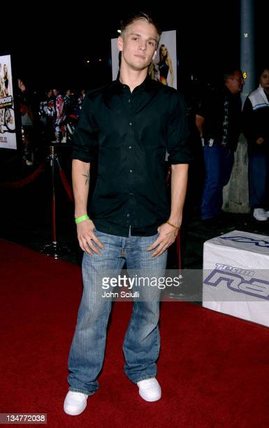 Aaron Carter during 'Supercross' Los Angeles Premiere Red Carpet at Veterans Administration Complex in Westwood California United States