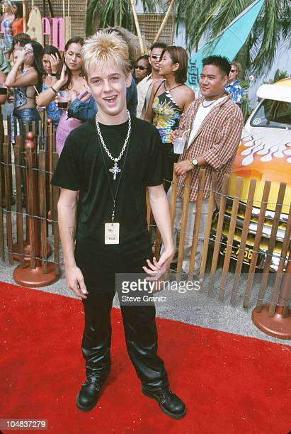 Aaron Carter during The 2000 Teen Choice Awards at Barker Hanger in Santa Monica California United States