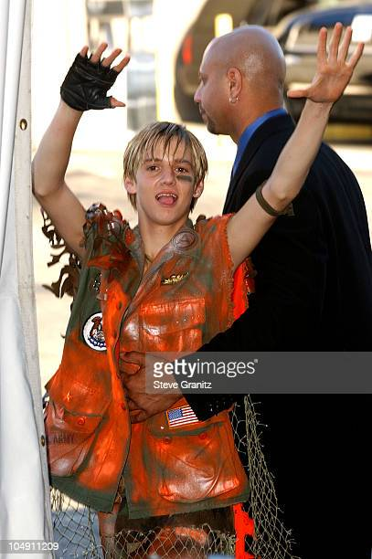 Aaron Carter during The 2001 Teen Choice Awards Press Room at Universal Amphitheater in Universal City California United States