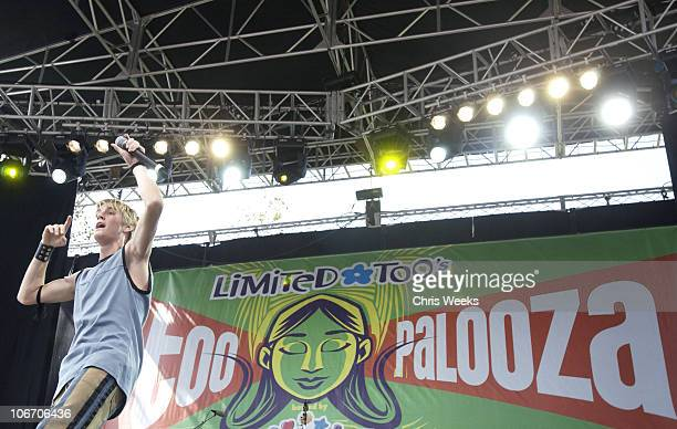 Aaron Carter during TOOPALOOZA hosted by CLIKITS at LEGOLAND in Carlsbad California United States