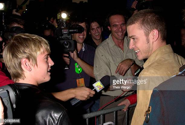 Aaron Carter Justin Timberlake during Michael Jackson's 30th Anniversary Celebration Arrivals at Madison Square Garden in New York City New York...
