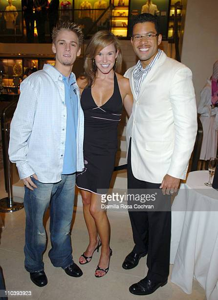 Aaron Carter Libby Langdon and Al Reynolds during Jaci Wilson Reid and Morris Reid Host a Shopping Experience at Asprey to Benefit VH1 Save The Music...