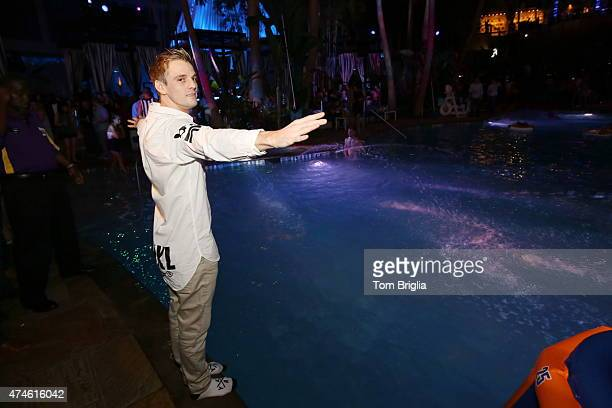 Aaron Carter performs at The Pool After Dark at Harrah's Resort on Friday May 22 2015 in Atlantic City New Jersey