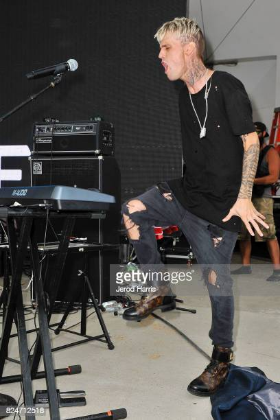 Aaron Carter performs at the Supergirl Pro Concert Series in Oceanside CA at The Strand on July 30 2017 in Oceanside California