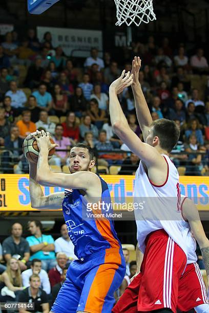 Aaron Cel of Gravelines during the Final match between Strasbourg and Gravelines Dunkerque at Tournament ProStars at Salle Arena Loire on September...