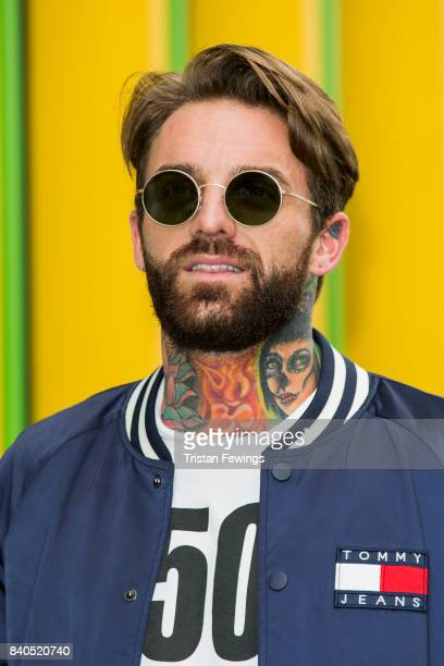 Aaron Chalmers attends the Geordie Shore series 15 premiere photocall at MTV London on August 29 2017 in London England