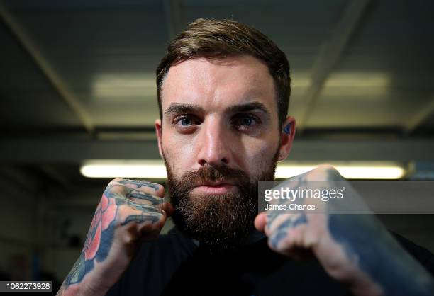 Aaron Chalmers poses for a portrait after the Aaron Chalmers and Paulie Malignaggi Training Session at the Peacock Gym on November 01 2018 in London...