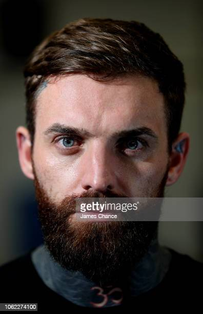 Aaron Chalmers poses for a portrait during the Aaron Chalmers and Paulie Malignaggi Training Session at the Peacock Gym on November 01 2018 in London...