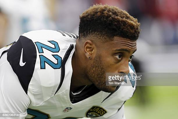 Aaron Colvin of the Jacksonville Jaguars warms up before the game against the Houston Texans at NRG Stadium on December 18 2016 in Houston Texas