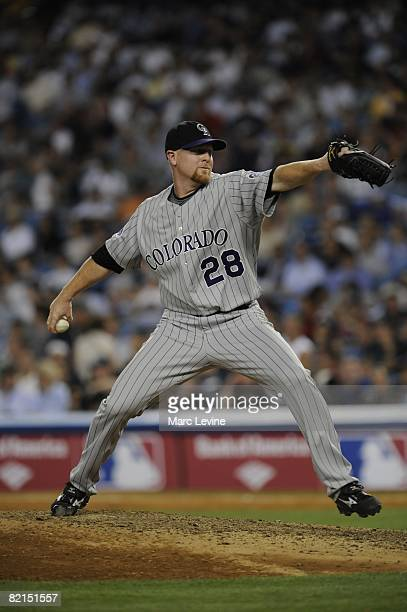 Aaron Cook of the Colorado Rockies pitches during the 79th MLB AllStar Game at the Yankee Stadium in the Bronx New York on July 15 2008 The American...