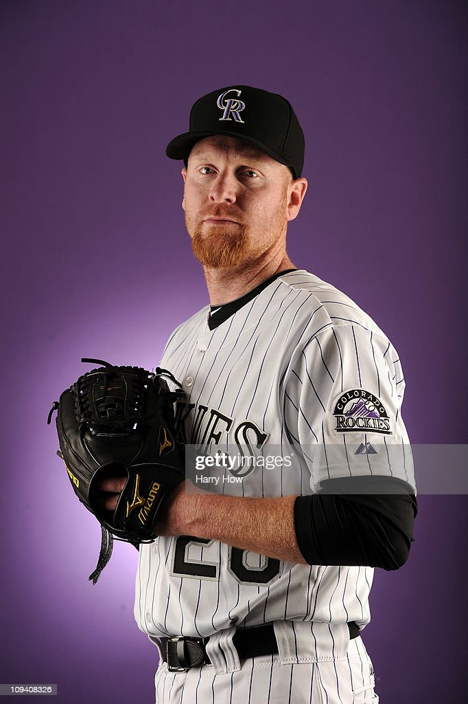 Aaron Cook #28 of the Colorado Rockies poses for a portrait during photo day at the Salt River Fields at Talking Stick on February 24, 2011 in Scottsdale, Arizona.