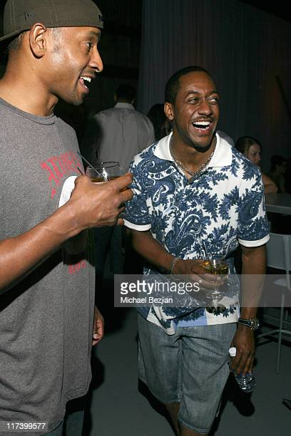 Aaron Courseault and Jaleel White during Hennessy Artistry Discover the Global Art of Mixing in Los Angeles CA United States