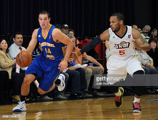 Aaron Craft of the Santa Cruz Warriors dribbles against Chris Wright of the Bakersfield Jam during a DLeague game on November 25 2014 at Dignity...