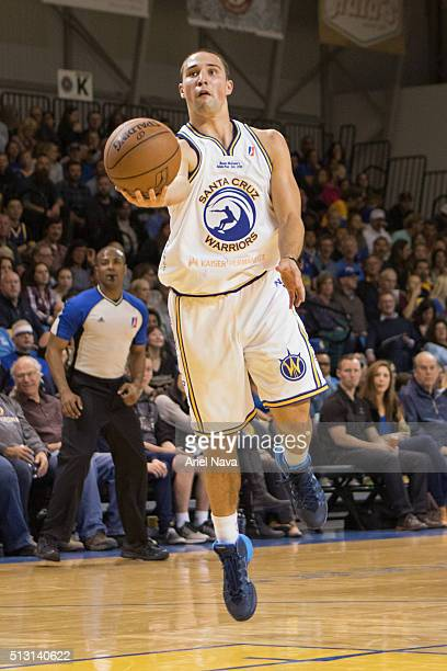 Aaron Craft of the Santa Cruz Warriors drives to the basket against the Reno Bighorns during an NBA DLeague game on February 26 2016 at the Kaiser...