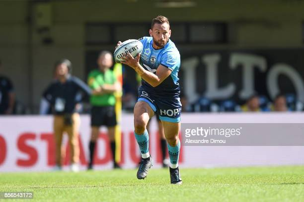 Aaron Cruden of Montpellier during the Top 14 match between Montpellier and Brive on October 1 2017 in Montpellier France