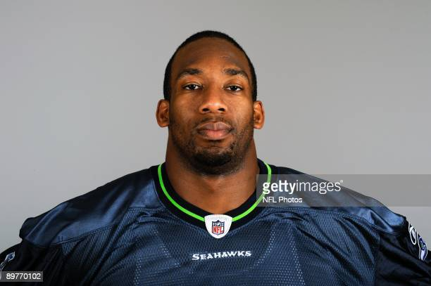 Aaron Curry of the Seattle Seahawks poses for his 2009 NFL headshot at photo day in Seattle Washington