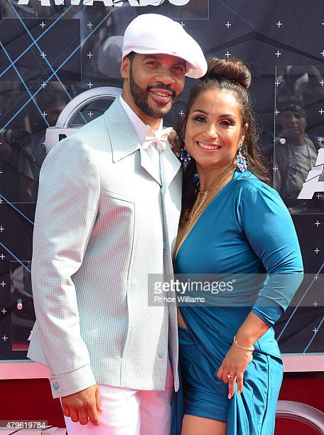 Aaron D Spears and Estela Lopez Spears on June 28 2015 in Los Angeles California
