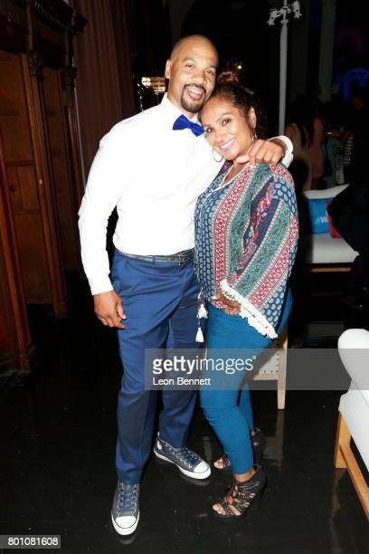 Aaron D Spears and wife Estela LopezSpears attend the 2017 BET Awards Official After Party at Vibiana on June 25 2017 in Los Angeles California