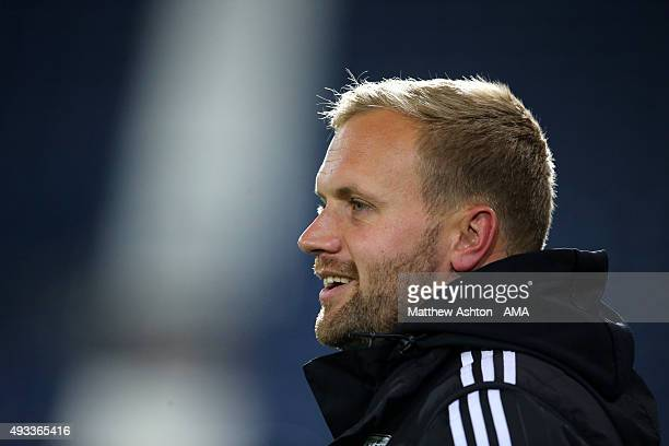 Aaron Danks U18 Coach/Lead Professional Development Phase Coach of West Bromwich Albion during the Barclays U21 League match between West Bromwich...
