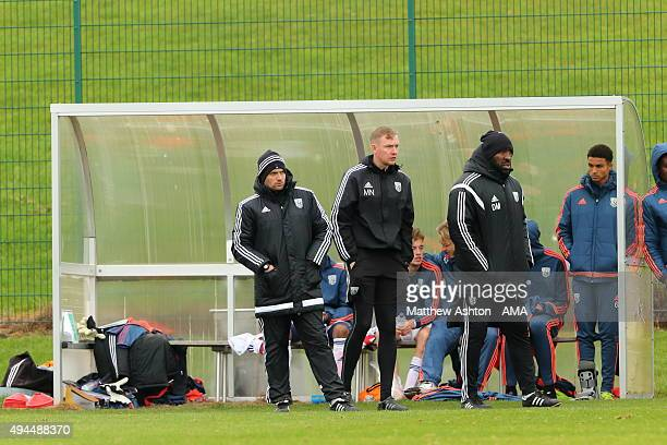 Aaron Danks West Bromwich Albion Academy Lead U18 Coach Mark Naylor West Bromwich Albion Academy Head of Goalkeeping and Darren Moore West Bromwich...