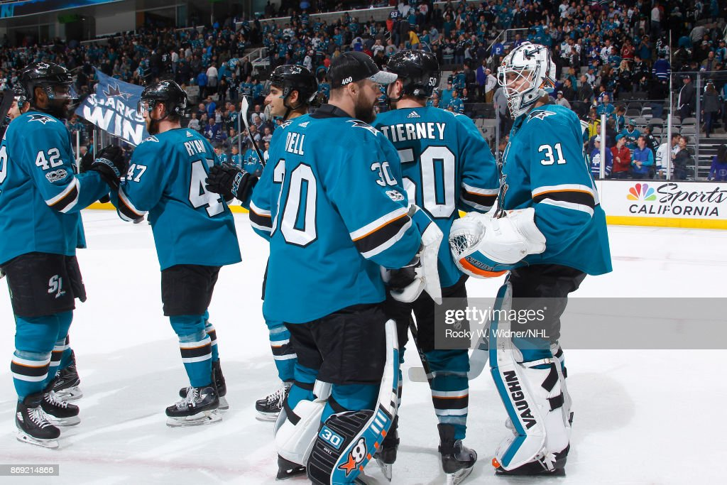 Toronto Maple Leafs v San Jose Sharks : News Photo