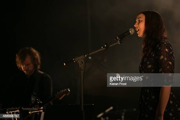 Aaron Dessner and Lisa Hannigan performs at Cork Opera House as part of Sounds from a Safe Harbour on September 18, 2015 in Cork, Ireland.