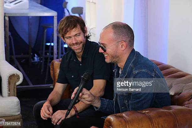 Aaron Dessner and Scott Devendorf of The National attend the Samsung Galaxy Artist Lounge at Lollapalooza on August 3 2013 in Chicago City