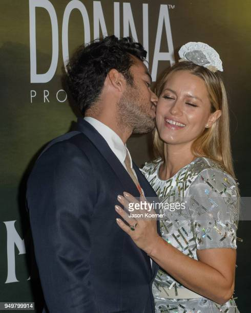 Aaron Diaz and Lola Ponce attend the 2018 Sachamama Green Gala Awards at Magic City Studios on April 21 2018 in Miami Florida