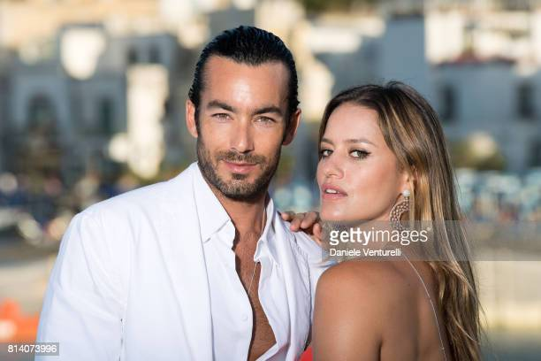 Aaron Diaz and Lola Ponce pose for a portrait session during the 2017 Ischia Global Film Music Fest on July 13 2017 in Ischia Italy