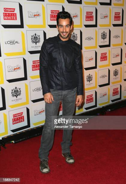 Aaron Diaz arrives at People en Espanol celebrates The Stars of the Year at SLS South Beach on December 13 2012 in Miami Florida