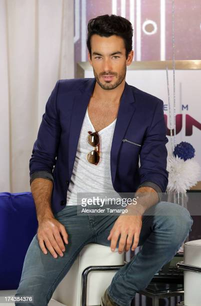 Aaron Diaz attends Telemundos Premios Tu Mundo Awards Announcement on July 24 2013 in Miami Florida