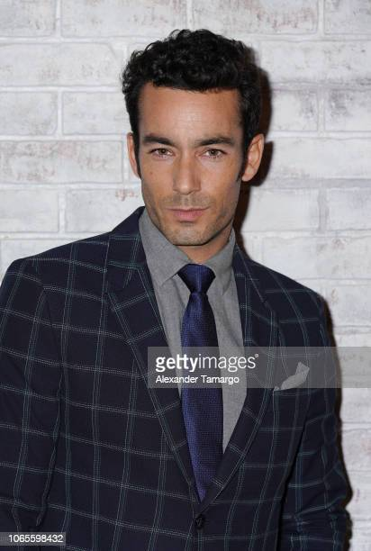 Aaron Diaz is seen at the Betty En NY cast reveal press conference at Telemundo Center on November 26 2018 in Miami Florida
