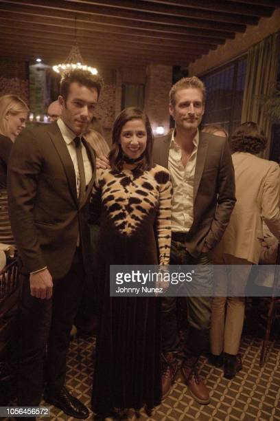 Aaron Diaz Karla Martinez and Alexi Lubomirski attend the Mercado Global Fashion Forward Celebration at The Bowery Hotel on November 1 2018 in New...