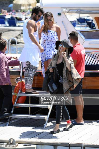 Aaron Diaz Lola Ponce and Mira Sorvino attend 2017 Ischia Global Film Music Fest on July 9 2017 in Ischia Italy