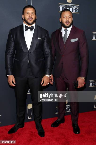 Aaron Donald and Archie Donald Jr attends the NFL Honors at University of Minnesota on February 3 2018 in Minneapolis Minnesota