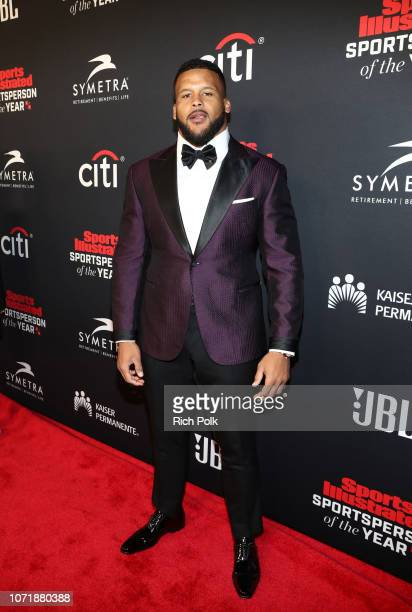 Aaron Donald Performer of the Year award recipient attends Sports Illustrated 2018 Sportsperson of the Year Awards Show on Tuesday December 11 2018...