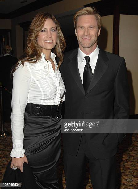 Aaron Eckhart and guest during 59th Annual Directors Guild of America Awards Arrivals at Hyatt Regency Century Plaza in Los Angeles California United...