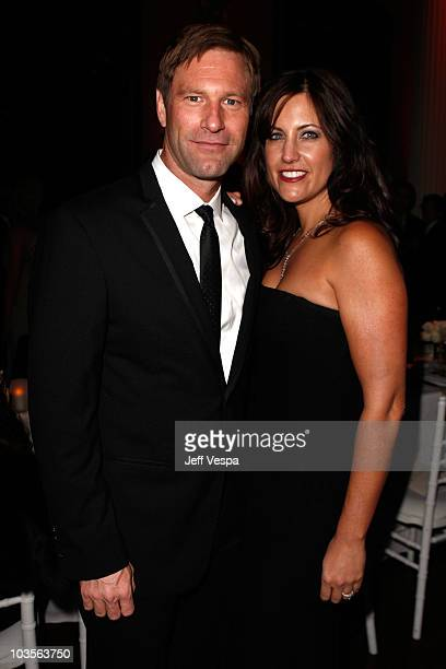 Aaron Eckhart and Tracy Brennan attends The Art of Elysium 2nd Annual Heaven Gala held at Vibiana on January 10, 2009 in Los Angeles, California.