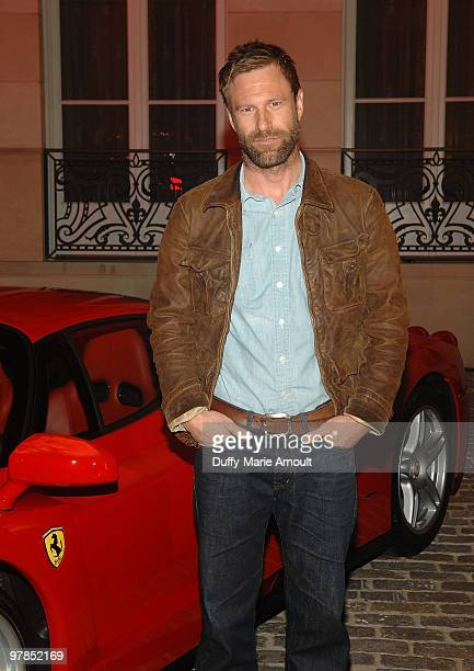 Aaron Eckhart attends Ferrari 458 Italia Brings Funds for Haiti Relief at Fleur de Lys on March 18 2010 in Los Angeles California