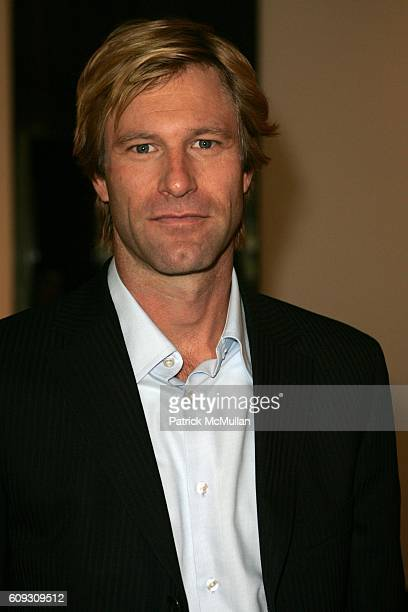 Aaron Eckhart attends MARTHA STEWART SIRIO MACCIONI and ANDREW BORROK Host a Lucheon to Celebrate 'NO RESERVATIONS' at Le Cirque on July 26 2007 in...