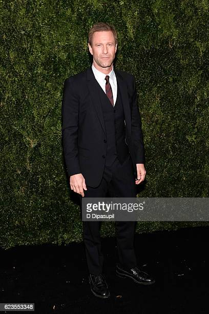 Aaron Eckhart attends the 2016 Museum of Modern Art Film Benefit presented by Chanel A Tribute to Tom Hanks at Museum of Modern Art on November 15...