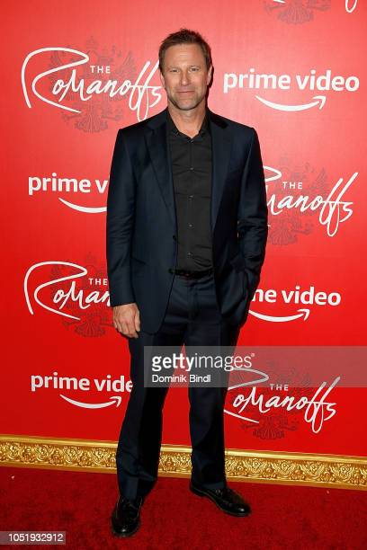 Aaron Eckhart attends the premiere of the Amazon Prime Video web TV series 'The Romanoffs' at the Russian Tea Room on October 11 2018 in New York City