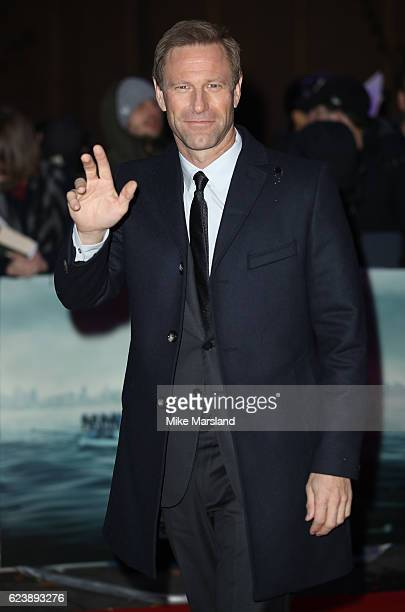 Aaron Eckhart attends the special screening of Sully at BFI IMAX on November 17 2016 in London United Kingdom